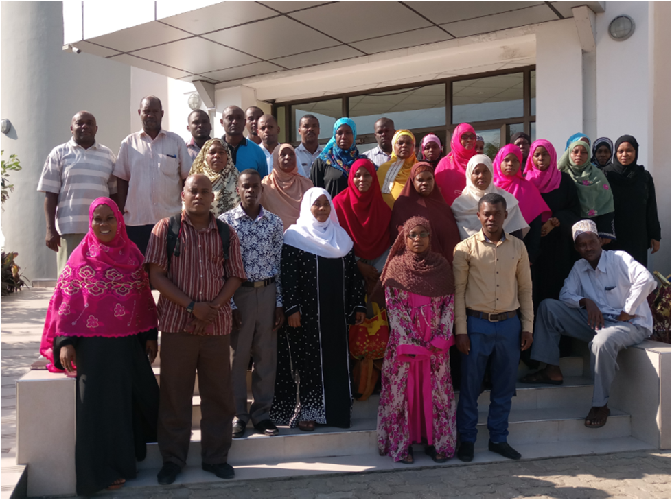 The focal persons of gender statistics from different Ministries, MDAs and private sectors who attended the  training on Integrating Gender Statistics in their routine agencies activities. The training conducted in May, 2019